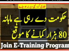 E-Training Program 2019 | You can Earn Rs 80,000 monthly |